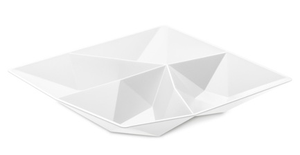 Менажница Club, 4.5x21x21 см, белая
