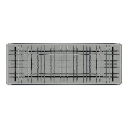 Блюдо прямоугольное Square, 42х15 см, серое 101453 Nachtmann блюдо square прямоугольное 42х15 см бессвинцовый хрусталь 101048 nachtmann