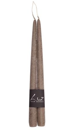 Набор свечей Рустик, 30 см, 2 шт, серо-коричневый LUZ305.54 Luz your senses набор свечей ты самая прекрасная в жестяных баночках красный высота 13 см 2 шт