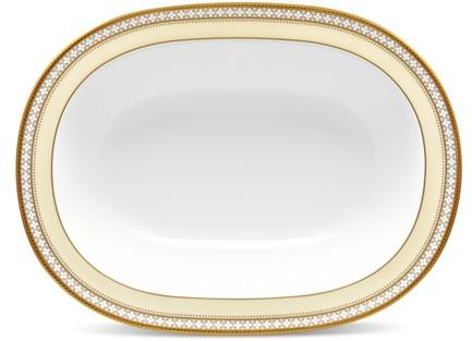 Салатник овальный Трефолио, золотой кант, 26 см NOR4945-415 Noritake плакетка пасхальный колокольчик фарфор деколь золочение ручная работа скудельник россия