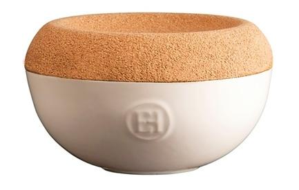 Емкость для хранения соли, 14.5х8.7 см, кремовая