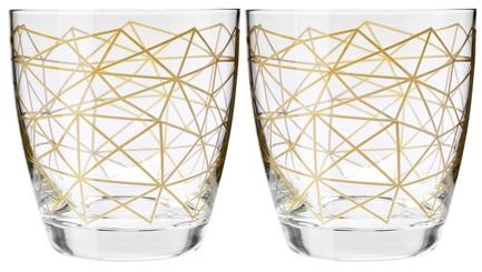 Набор стаканов для воды Золотая нить (370 мл), 2 шт