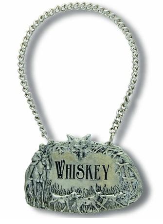 Декоративная табличка на цепочке для декантера Виски, 4 см VAG-B135HW Vagabond House табличка на дверь заходи раз пришел 18 см х 10 см