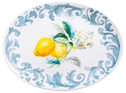 Блюдо овальное Лимоны, 40x30 см CER23127 Certified International Corp блюдо квадратное 31 см certified international