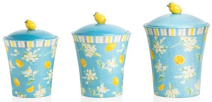 Набор банок с крышками Лимоны (1.4 л, 1.7 л, 3.1 л), 3шт. CER23128 Certified International Corp