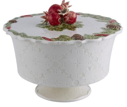Конфетница с крышкой Рождественская гирлянда, 22.3 см BOR65019427 Bordallo Pinheiro