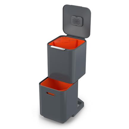 Контейнер для мусора с двумя баками Totem Compact, 40 л, серый 30065 Joseph & Joseph