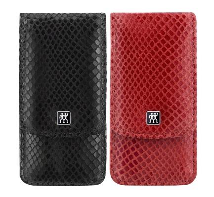 Набор маникюрный Classic Inox, 3 пр., футляр кожаный, отделка змея, цвет красный или черный 97650-200 Zwilling