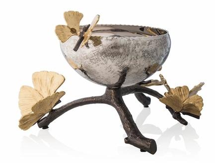 Чаша для конфет и орешков Бабочки гинкго, 23.5х21.6х14.6 см MAR175751 Michael Aram