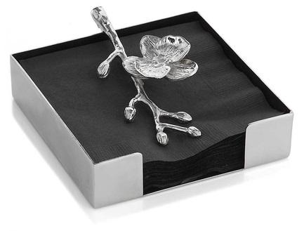 Подставка для салфеток Белая орхидея, 13.3х13.3х4.4 см MAR111804 Michael Aram