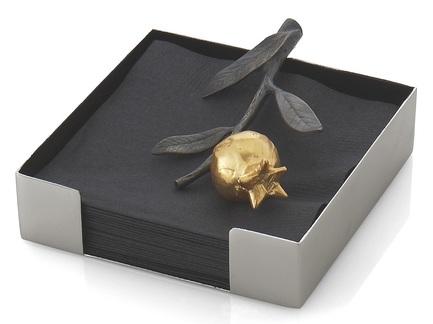 Фото - Подставка для салфеток Гранат, 13.3х13.3х4.5 см MAR112245 Michael Aram подставка для салфеток черная орхидея 20 см черная mar110825 michael aram