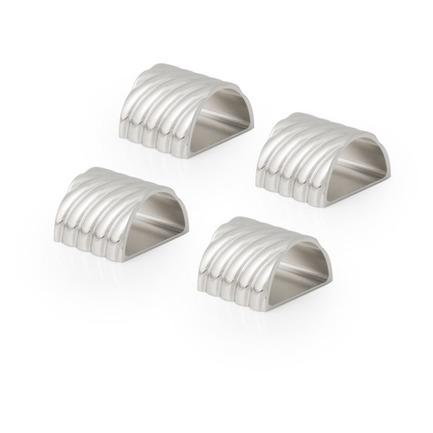 Набор колец для салфеток Твист, 4.5х4.5 см, серебристый, 4 шт