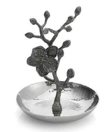 Фото - Подставка для колец Черная орхидея, 10х15 см, серебристая MAR110831 Michael Aram подставка для салфеток черная орхидея 20 см черная mar110825 michael aram