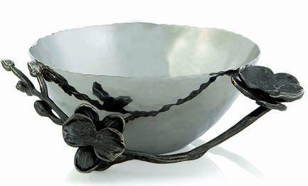Фото - Чаша для орехов Черная орхидея, 13 см, серебристая MAR110715 Michael Aram подставка для салфеток черная орхидея 20 см черная mar110825 michael aram