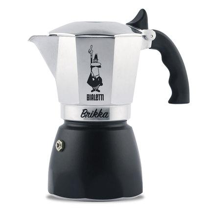 Гейзерная кофеварка Brikka с клапаном для пенки 2020 (150 мл), на 4 чашки