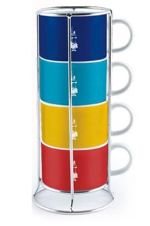 Набор чашек для капучино Multicolor, 4 шт.