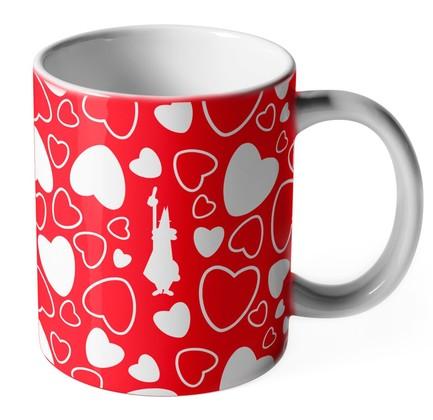 Кружка Cuore Сердечки (250 мл), красный