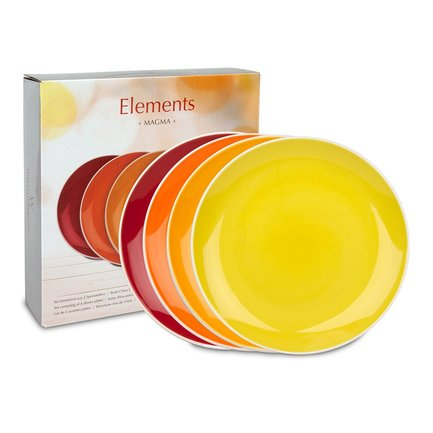 "Набор больших тарелок ""Магма"", 27 см, 4 шт."