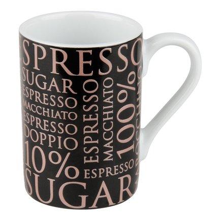 """Кружка """"100 % Кофе II"""" (90 мл), черная"""