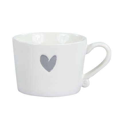 Чашка White Нeart Grey (300 мл)