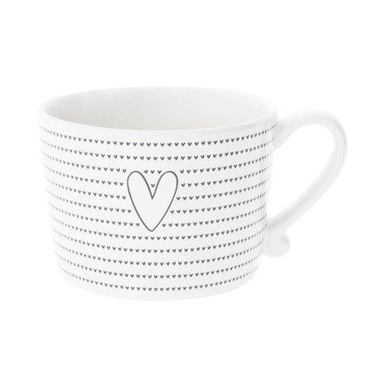 Чашка White Little Big Нearts Black (300 мл)