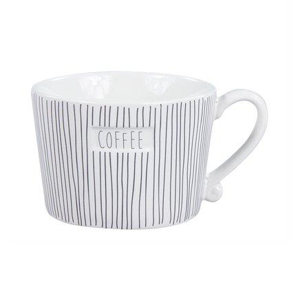Чашка White Stripes Coffee Black (300 мл) RJ/MUG STR/COF BL Bastion Collections