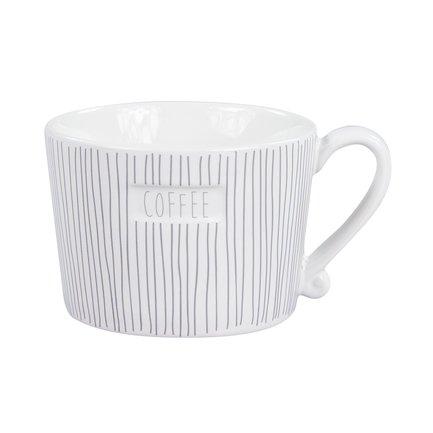 Чашка White Stripes Coffee Grey (300 мл) RJ/MUG STR/COF GR Bastion Collections