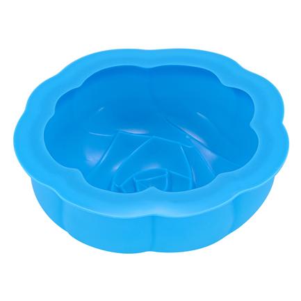 Форма для выпечки Rose силиконовая, 16х6 см, голубая S07-020-B Guffman шкатулка купюрница sima land собачка осень цвет голубой 17 см х 9 см х 6 см