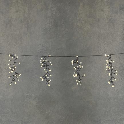 Гирлянда Гроздья ягод, теплый белый свет, 130 ламп, 8F, 6.2 м 84629 Luca lights