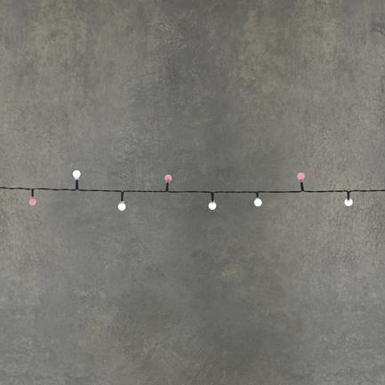 Гирлянда Ягодки, 48 ламп, мультиколор, на темном проводе, 3.6 м, на батарейках 84626 Luca lights
