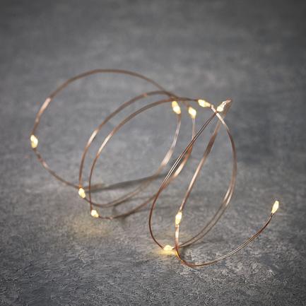 Гирлянда на медном проводе, 10 ламп, 1 м