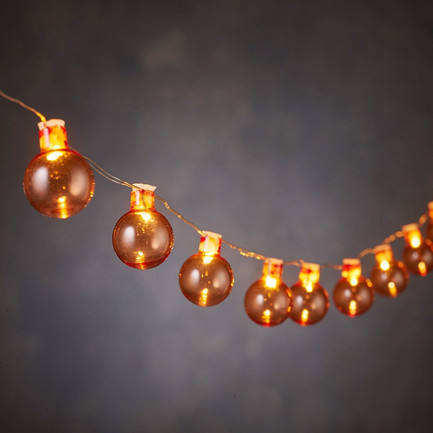 Гирлянда Шарики оранжевые, 20 ламп, 1.9 м, на батарейках 84907 Luca lights