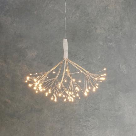 Подвесной Одуванчик, мерцающий теплый белый свет, 80 ламп 84885 Luca lights