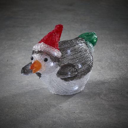 Пингвин в красной шапке, 24 лампы, на батарейках, 33х21.5 см 84954 Luca lights