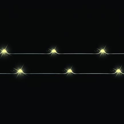 Декор Гирлянда б/о теплый свет, 20 ламп, 190 см, медный провод