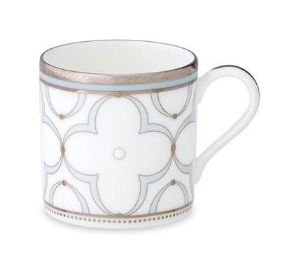 """Чашка кофейная """"Трефолио, платиновый кант"""" (90 мл) NOR4957-432 Noritake"""