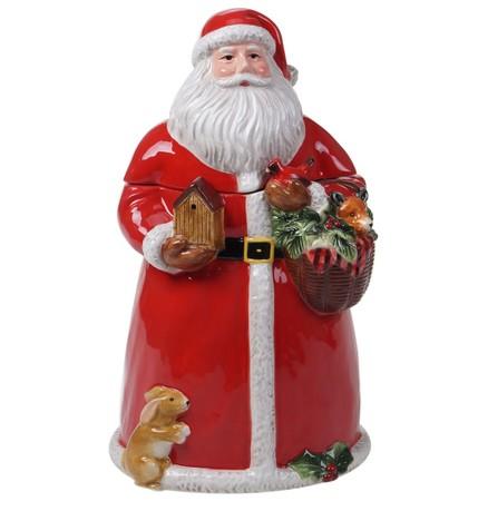 Банка для печенья 3D Магия Рождества. Санта, 27 см CER28297 Certified International Corp блюдо прямоугольное магия рождества санта 35 5х25 см cer28296 certified international corp