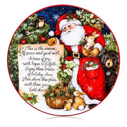 Блюдо сервировочное Магия Рождества. Поздравление от Санты, 30 см CER28292 Certified International Corp блюдо прямоугольное магия рождества санта 35 5х25 см cer28296 certified international corp