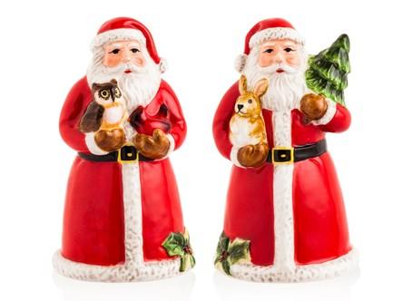 Набор для соли и перца 3D Магия Рождества. Санта, 10 см CER28298 Certified International Corp блюдо прямоугольное магия рождества санта 35 5х25 см cer28296 certified international corp