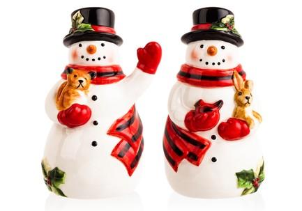 Набор для соли и перца 3D Магия Рождества. Снеговик, 10 см CER28310 Certified International Corp блюдо прямоугольное магия рождества санта 35 5х25 см cer28296 certified international corp
