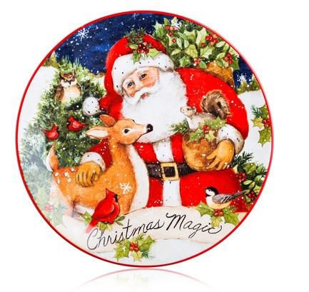 Тарелка закусочная Магия Рождества. Бельчонок, 23 см CER28286-1 Certified International Corp блюдо прямоугольное магия рождества санта 35 5х25 см cer28296 certified international corp