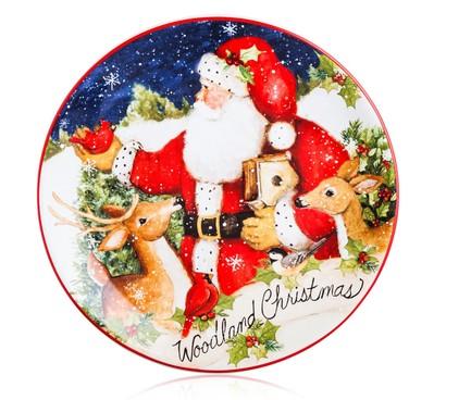 Тарелка закусочная Магия Рождества. Оленёнок, 23 см CER28286-3 Certified International Corp блюдо прямоугольное магия рождества санта 35 5х25 см cer28296 certified international corp