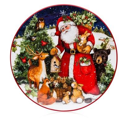 Тарелка обеденная Магия Рождества. Санта, 28 см CER28285 Certified International Corp тарелка обеденная зимний сад радость 28 см cer28315 1 certified international corp