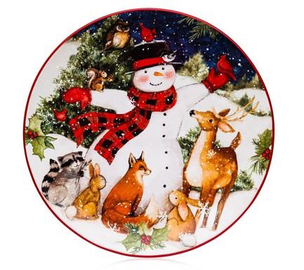Тарелка обеденная Магия Рождества. Снеговик, 28 см CER28300 Certified International Corp тарелка обеденная зимний сад радость 28 см cer28315 1 certified international corp