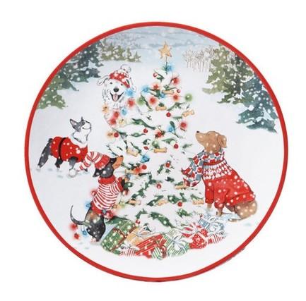 Тарелка обеденная Особый праздник, 28 см CER28380 Certified International Corp тарелка обеденная зимний сад радость 28 см cer28315 1 certified international corp