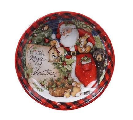 Тарелка суповая Магия Рождества. Санта, 23 см CER28289 Certified International Corp блюдо прямоугольное магия рождества санта 35 5х25 см cer28296 certified international corp