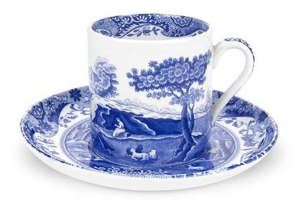 Чашка кофейная с блюдцем Голубая Италия (90 мл) SPD-BLI1200-1 Spode