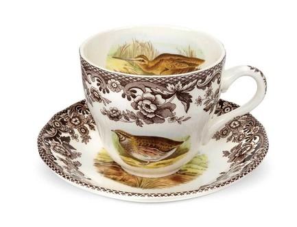 Чашка чайная с блюдцем Английские охотничьи мотивы (200 мл) SPD-WL1162 Spode чайник заварочный spode английские охотничьи мотивы 1 3 л