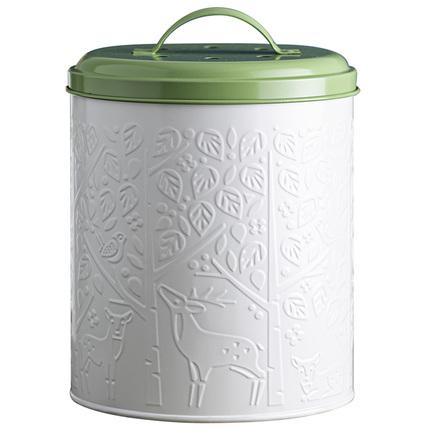 Контейнер для пищевых отходов In The Forest, 17.5х20 см, бело-зеленый
