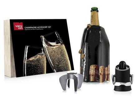 Фото - Подарочный набор для шампанского Champagne, 3 пр. 38899606 VacuVin подарочный набор giftset wine essentials 6 пр 6889060 vacuvin